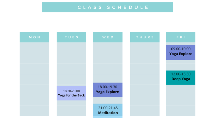 18.30-20.00 Yoga for the Back